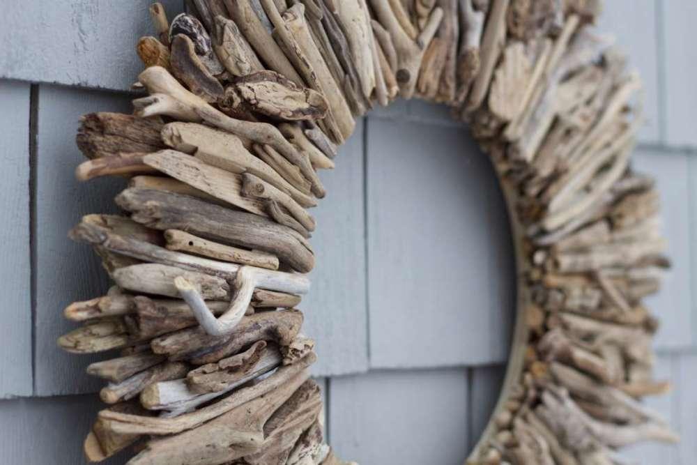 Natural Maine Driftwood Wreath